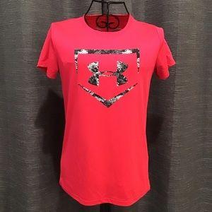 Under Armour Pink Softball Short sleeve Shirt